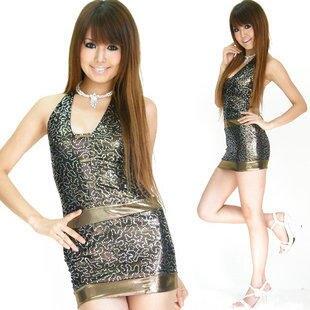 性感尤物日本舞台歌手亮片21087# 有銀色 金色