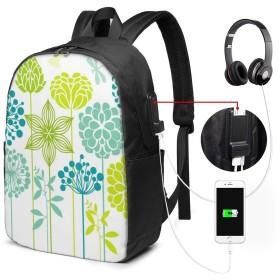 ファッションミニUSB充電ラップトップバックパック、女性/女の子/ビジネス向け軽量旅行防水スクールバックパック(ひまわりコンプレックス)