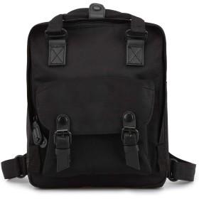 カジュアルファッションバックパック、学校のラップトップリュックサック、機能的な屋外防水ナップザック、ユニセックスミニバルクトラベルバッグ (Color : ブラック)