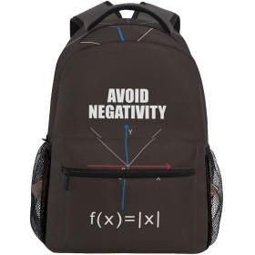 学生リュック クールな数学は否定性を避ける柄 リュックサック バックパック デイパック 男の子 男 通学 遠足 アウトドア 小学生 中学生 大容量
