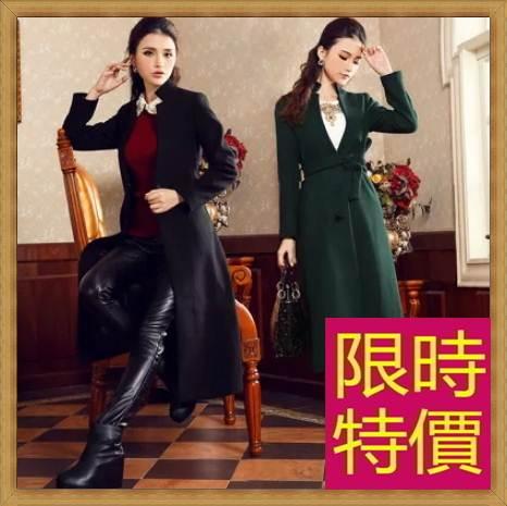 毛呢外套羊毛大衣-保暖長版女風衣62v1【韓國進口】【米蘭精品】