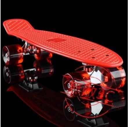 小魚板滑板香蕉板青少年公路代步單翹板兒童成人初學者四輪滑板車
