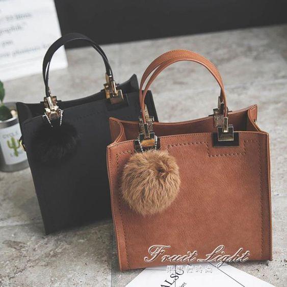 女包包新款韓版時尚復古百搭休閒托特包手提包單肩側背包小包