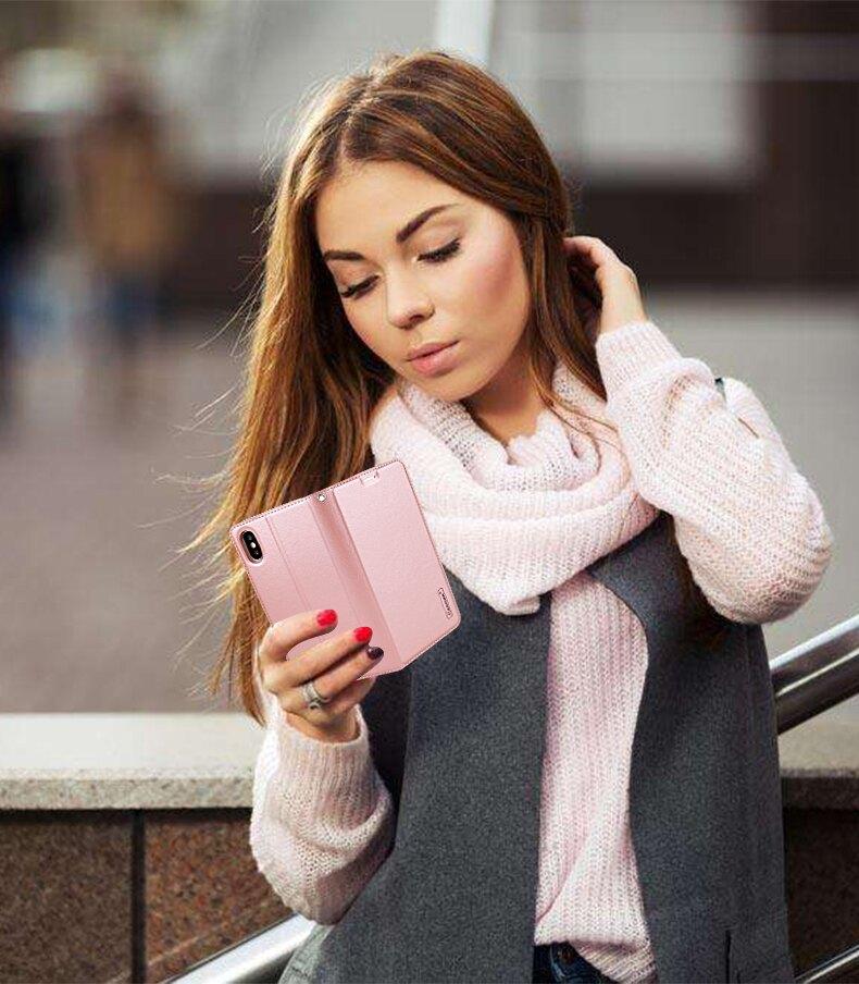 【米洛皮套】Apple iPhone 11 Pro 5.8吋 輕薄吸合式保護套/側掀斜立支架/可站立