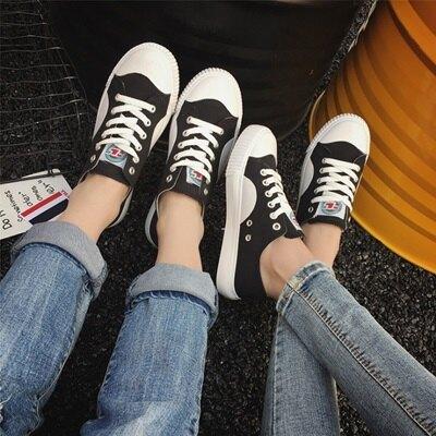 帆布鞋情侶休閒鞋-復古熱銷街頭潮流男女鞋子3色73no35【獨家進口】【米蘭精品】