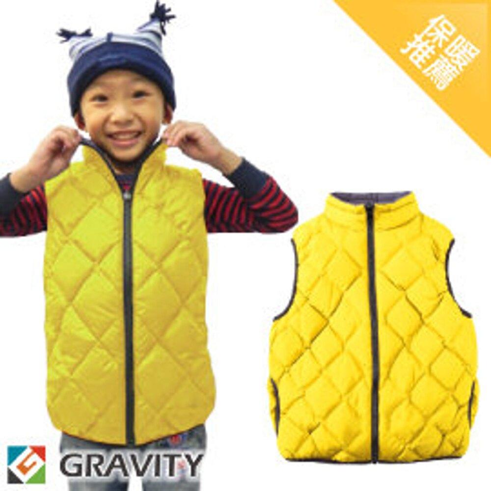 【GRAVITY 兒童 輕量羽絨背心 黃】GV301Y/兒童背心/羽絨衣/羽絨背心/保暖背心
