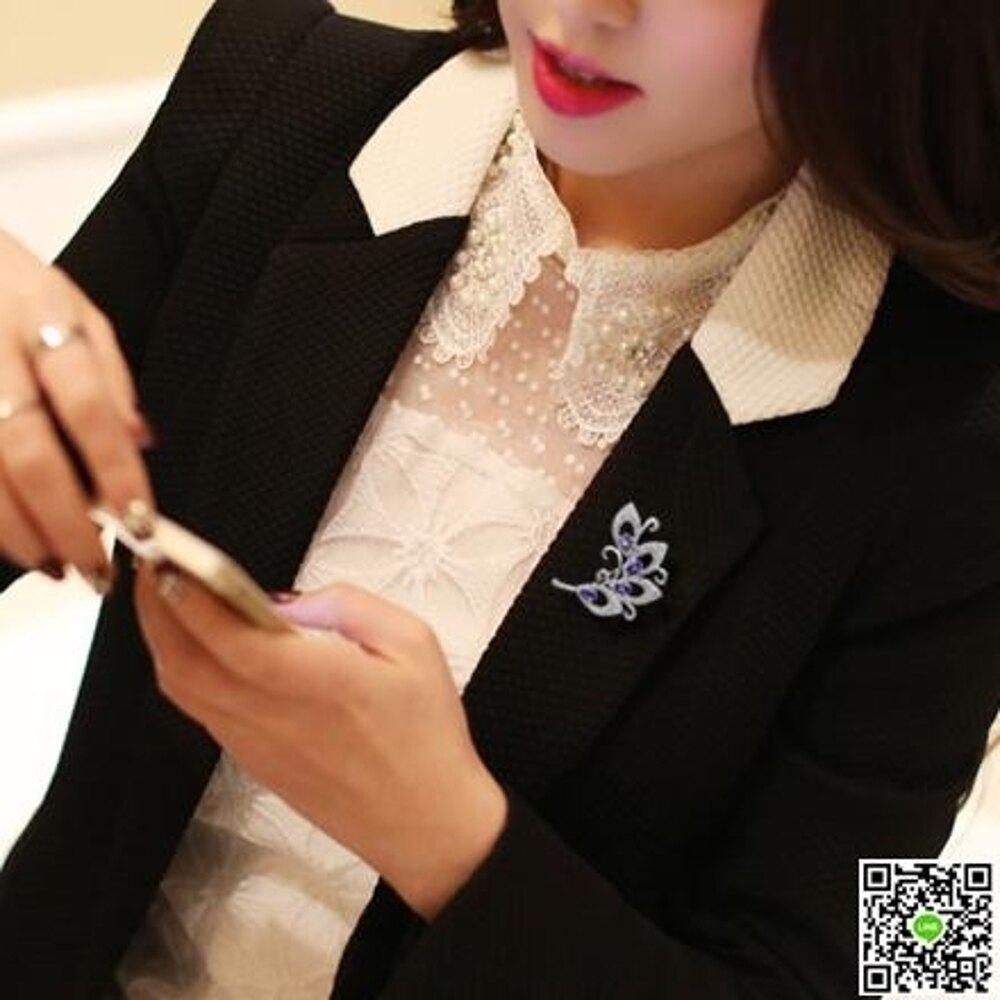 大羽毛飾品韓國復古男士女配飾大衣毛衣開襟外套衣服別針胸花胸針 都市時尚