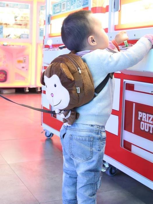 兒童防走失背包卡通小孩書包安全帶牽引繩寶寶防走丟繩溜娃神器