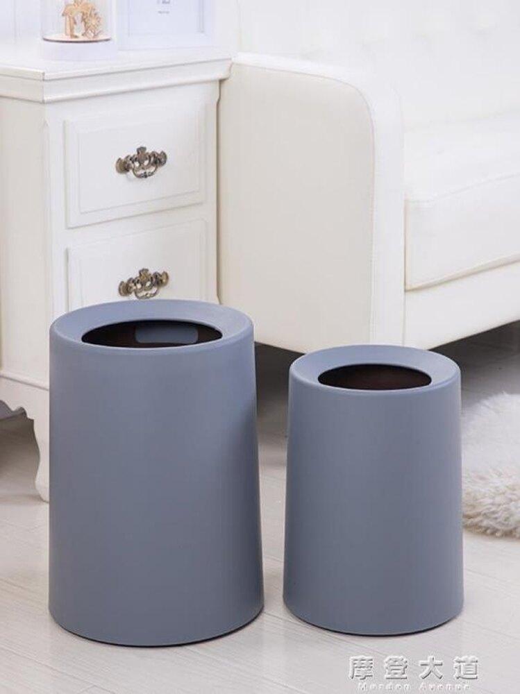 北歐式垃圾桶家用臥室衛生間大號創意廁所垃圾桶客廳歐式垃圾紙簍ATF 錢夫人小鋪