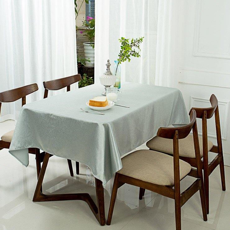 簡約/家居佈置/質感 素色提花桌巾-田園 藍