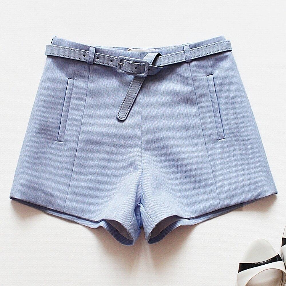 ✤宜家✤時尚簡約瘦腿百搭女西裝短褲 熱褲 休閒褲1