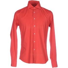 《セール開催中》GHIRARDELLI メンズ シャツ レッド 39 コットン 97% / ポリウレタン 3%