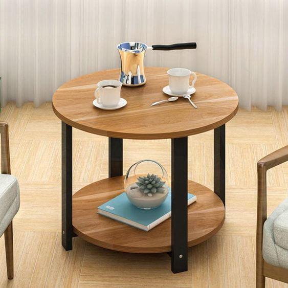 蔓斯菲爾茶幾圓形小圓桌現代沙發邊幾邊櫃簡約角幾北歐邊桌電話桌  ATF