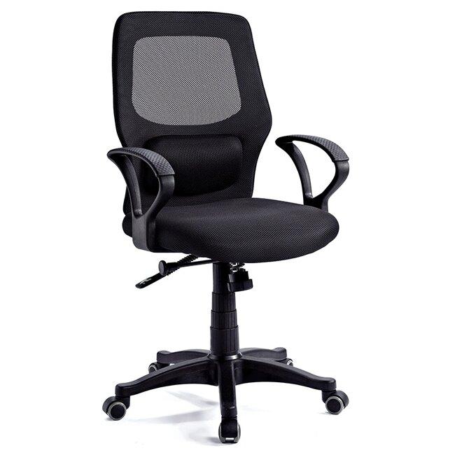 洛基黑網布辦公椅/電腦椅/H&D東稻家居-消費滿3千送點數10%