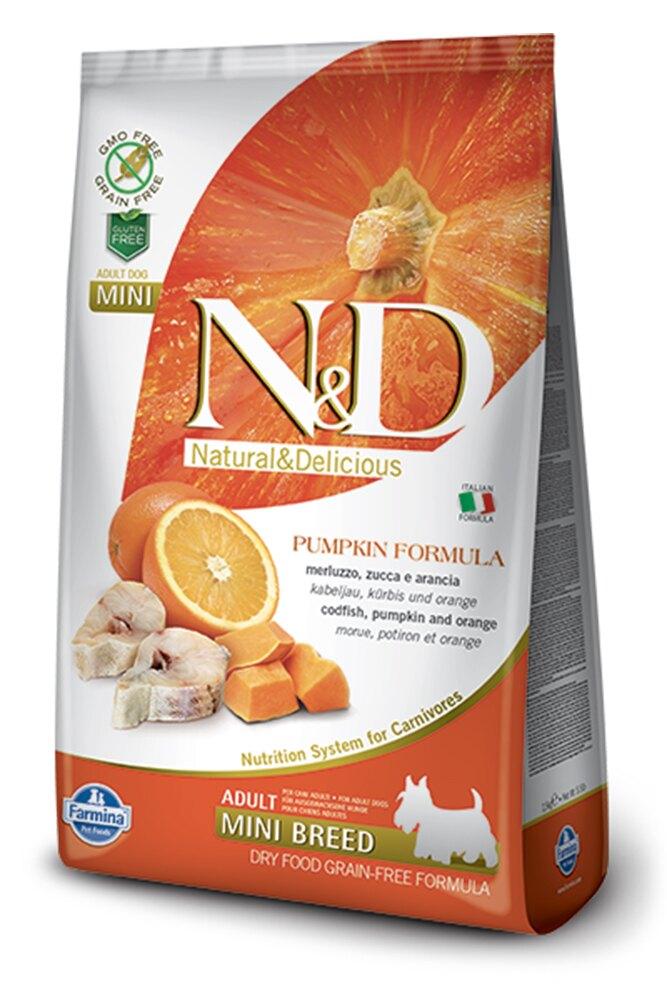 寵物 法米納狗飼料 挑嘴成犬天然南瓜無榖糧-鱈魚甜橙小顆粒PD-4