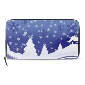 長財布クリスマスのベクトルかわいい レディース 人気 二つ折り 大容量 本革 カードポケット 軽量 耐久性 高校生 ファスナー財布 バック PU 贈り物 ウォレット