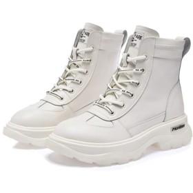 [XYZL] 防水シューズ ブーツ レディース 歩きやすい ハイカット 安定感 ショートブーツ 旅行 消臭 ブーティ ホワイト インヒール厚底スニーカー カジュアル 歩きやすい 23.5cm 25.0cm 大きいサイズ 歩きやすい 編み上げ 厚底シューズ 雪靴