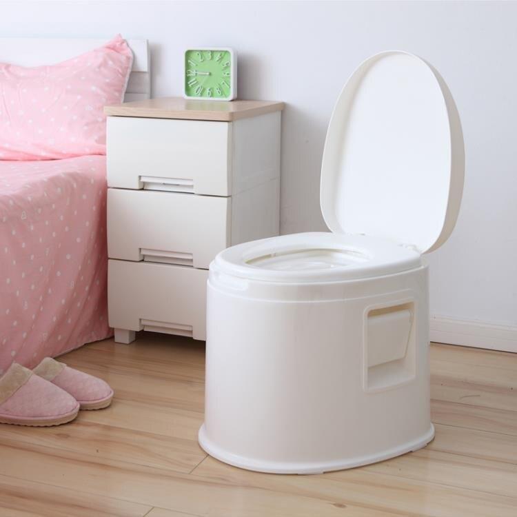 可移動馬桶加厚成人家用老人帶蓋防臭痰盂室內尿盆舒適孕婦坐便器