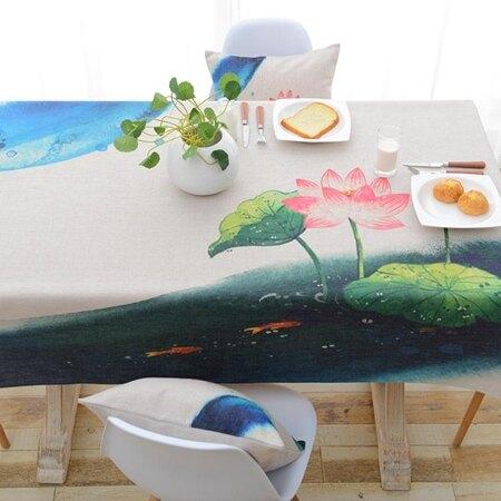 桌布布藝棉麻小清新韓式中式古典復古桌茶幾布桌巾 年貨節預購
