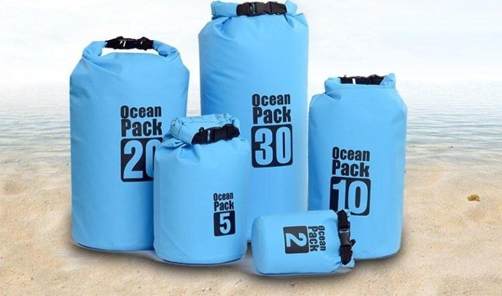 30L 美國戶外防水包防水袋沙灘游泳浮潛漂流溯溪袋桶背包收納袋  都市時尚