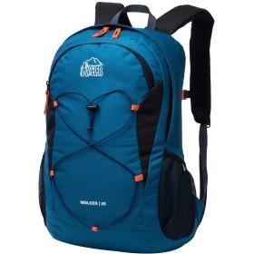Aveler 30L男女兼用 ユニセックス軽量リュック 旅行、ハイキング、キャンプ用 ダブルジップ バックパック - 青い