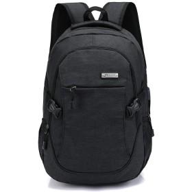 リュックサックメンズ ビジネス ラップトップバック 大容量 防水 USB充電機能付き 旅行&ビジネスバッグ