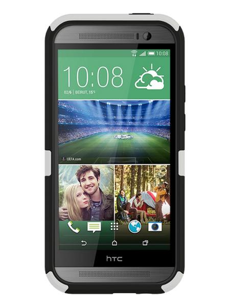 SEIDIO DILEX™ 六爪硬化雙層保護殼 for HTC One M8 - 極簡白