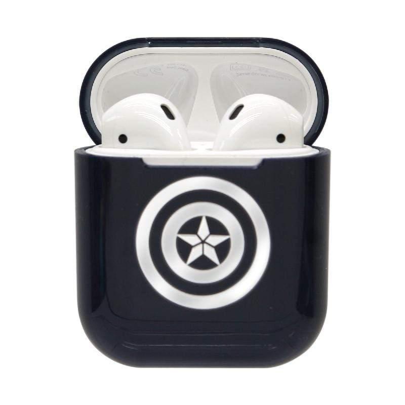 漫威系列 復仇者聯盟AirPods硬式保護套 美國隊長-銀色
