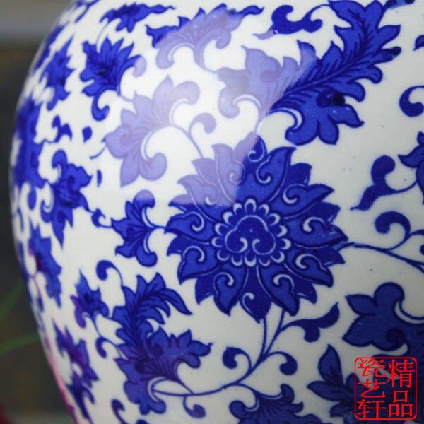【中】陶瓷器 家居 青花  將軍罐