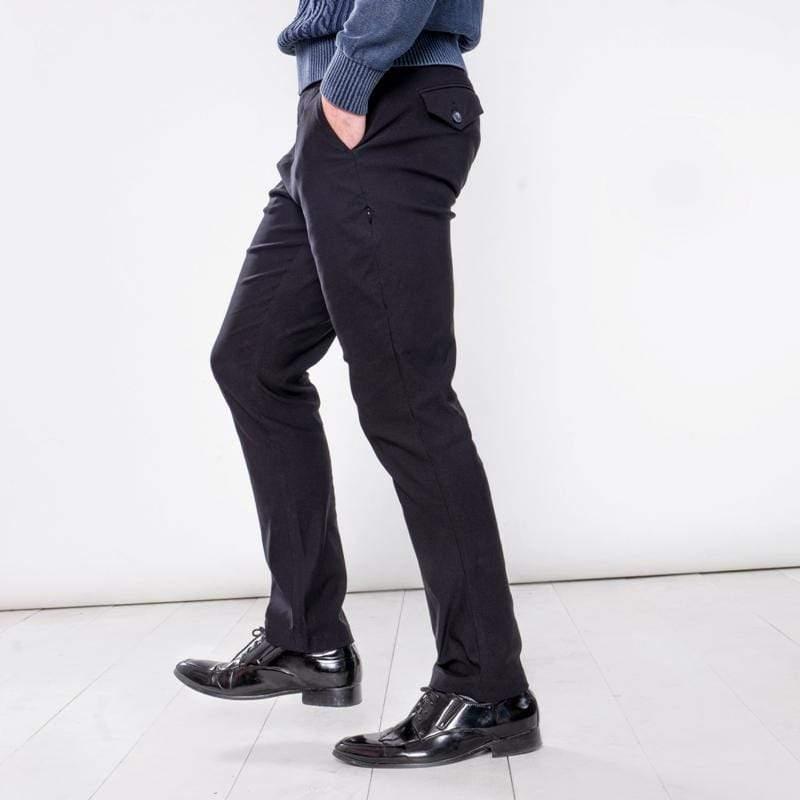 曼哈頓八口袋商旅紳士褲 極致黑 尺碼 36