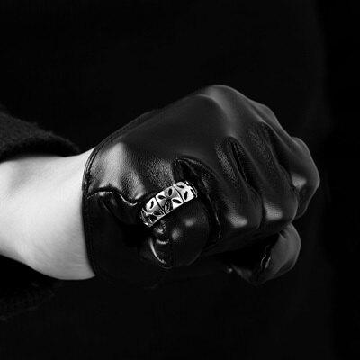 鈦鋼戒指美式戒飾-龐克搖滾簡約流行生日情人節禮物男飾品73le227【獨家進口】【米蘭精品】