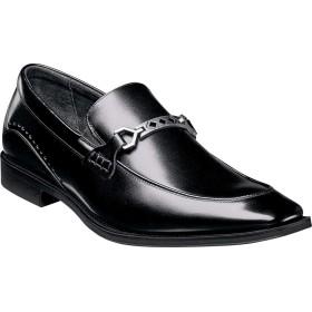ステイシーアダムス シューズ スリッポン・ローファー Lindford Bit Loafer Black Leat メンズ [並行輸入品]