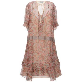 《セール開催中》COACH レディース ミニワンピース&ドレス 赤茶色 6 ポリエステル 100%
