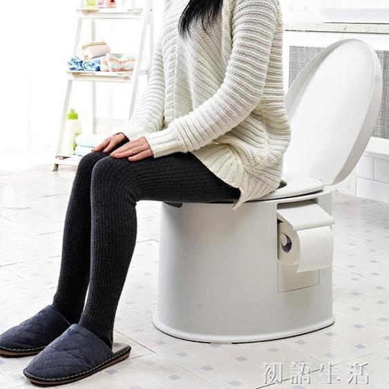 加厚加高便攜式塑料成人馬桶蹲廁行動坐便器孕婦痰盂老人尿桶尿盆  聖誕節禮物