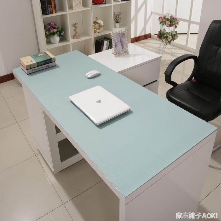 商務皮革辦公桌墊電腦書桌墊寫字臺滑鼠墊超大防水新款多色