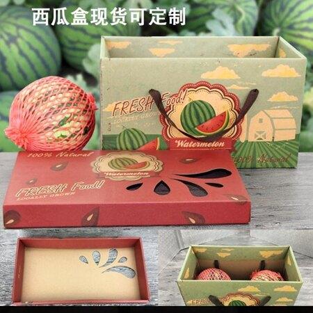 通用水果禮盒包裝盒西瓜包裝箱木瓜哈密瓜香瓜包裝盒 萬客居 聖誕節禮物