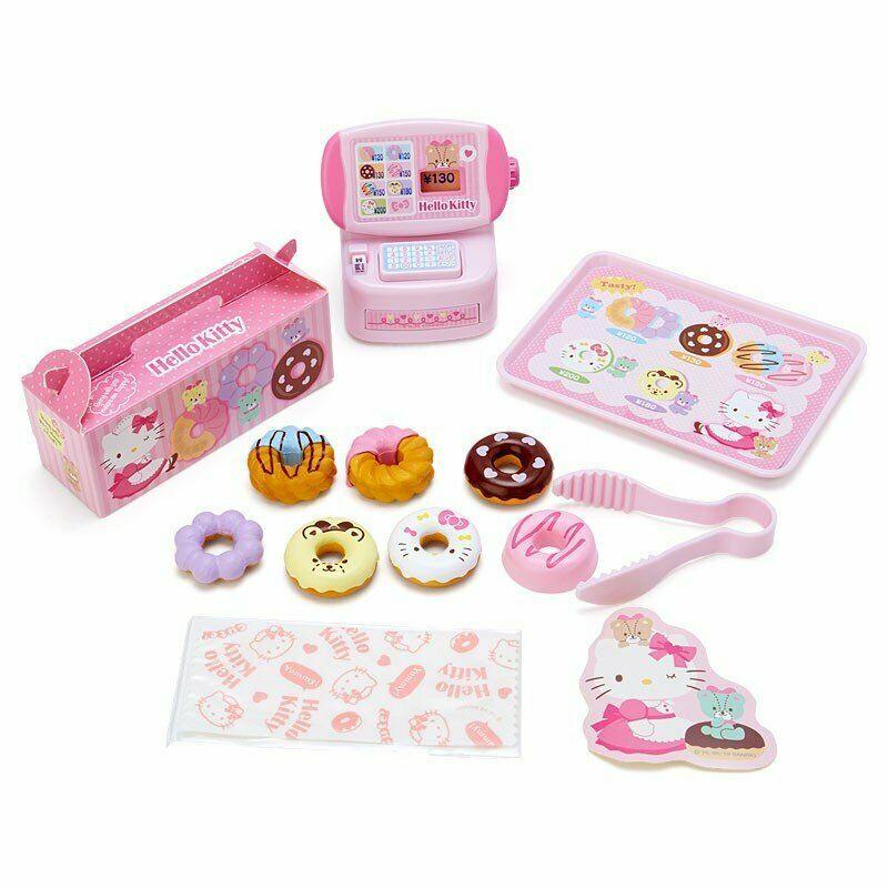 大賀屋 日貨 HELLO KITTY 甜甜圈店 扮家家酒 兒童玩具 擺飾 擺設 三麗鷗 KT 正版 L00011451