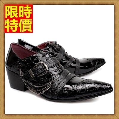 尖頭鞋真皮皮鞋-經典款英倫潮流時尚增高男鞋子65ai20【獨家進口】【米蘭精品】