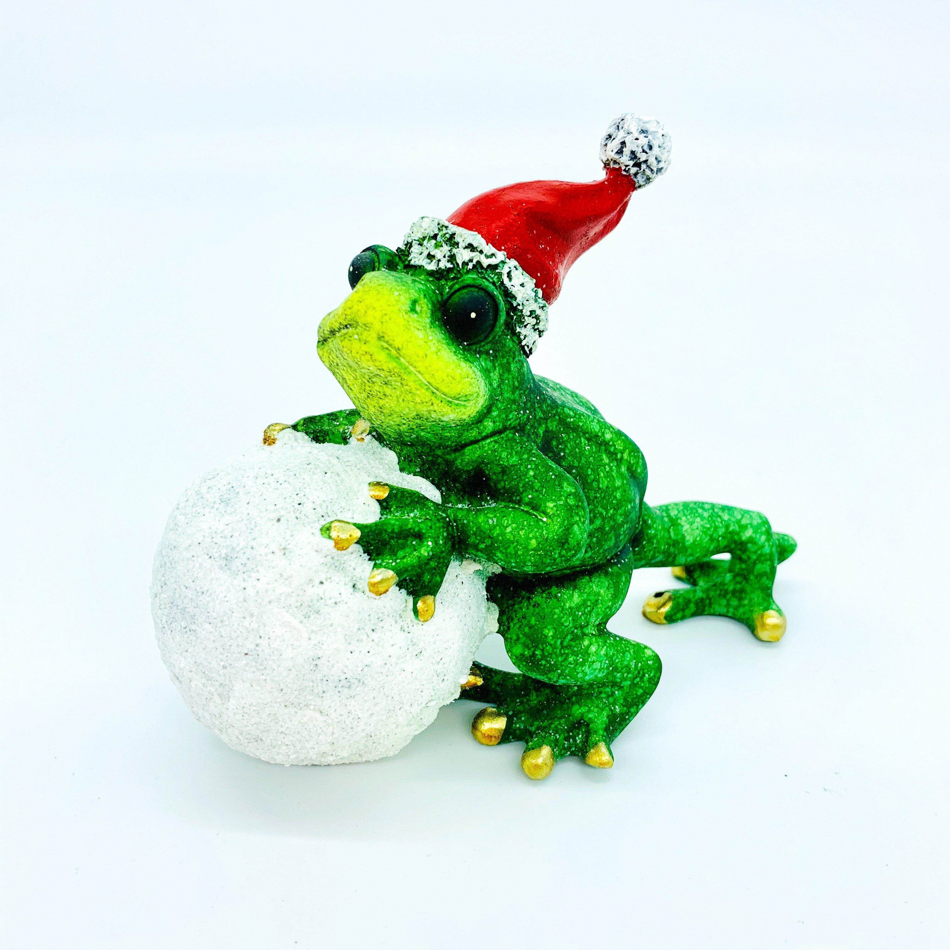 日本高山 聖誕運動 青蛙 擺飾 5 日本直送 幸運 平安 開運