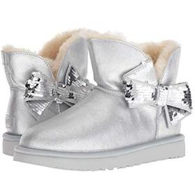 [アグ] レディースブーツ・靴 Mini Sequin Bow Silver (28.5cm) B - Medium [並行輸入品]