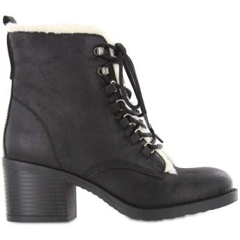 [ミア] レディース パンプス Lars Vegan Leather Faux Fur Trim Boots [並行輸入品]