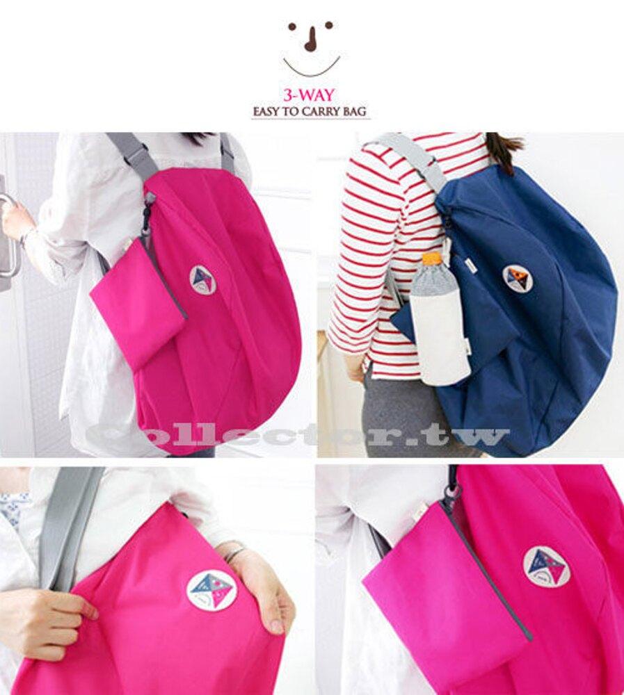 ✤宜家✤韓版 多功能變換可折疊收納包 單肩包 雙肩背包