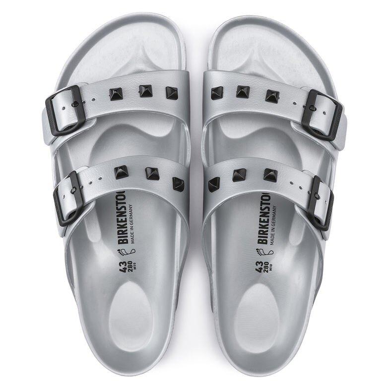 宜蘭勃肯 BIRKENSTOCK 防水EVA膠鞋 ARIZONA 兩條 造型鉚釘款2色