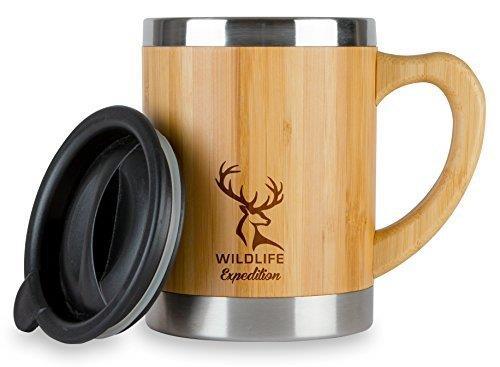 【美國代購】Bamboo Mugs 竹製生態旅行杯(13.5盎司)