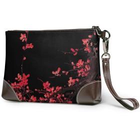 クラッチバッグ ビジネスバッグ バッグ 防水バッグ 梅の花 セカンドバック メンズ レディース 鞄 人気 クラッチ 本革
