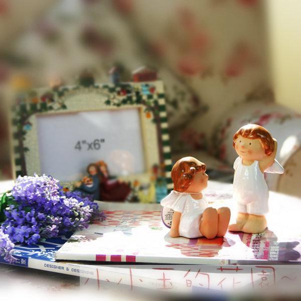 【陶瓷小天使】時尚結婚禮物 創意擺件 陶瓷工藝品 巴洛克風潮一對