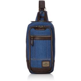 [リー] ボディバッグ・ワンショルダー 2WAY 手持ちハンドル付き デニム地 メタルロゴプレート ブルー