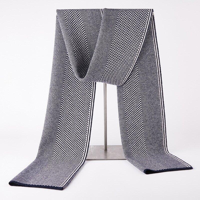 圍巾羊毛披肩-方格條紋針織百搭男配件2色73wh23【獨家進口】【米蘭精品】