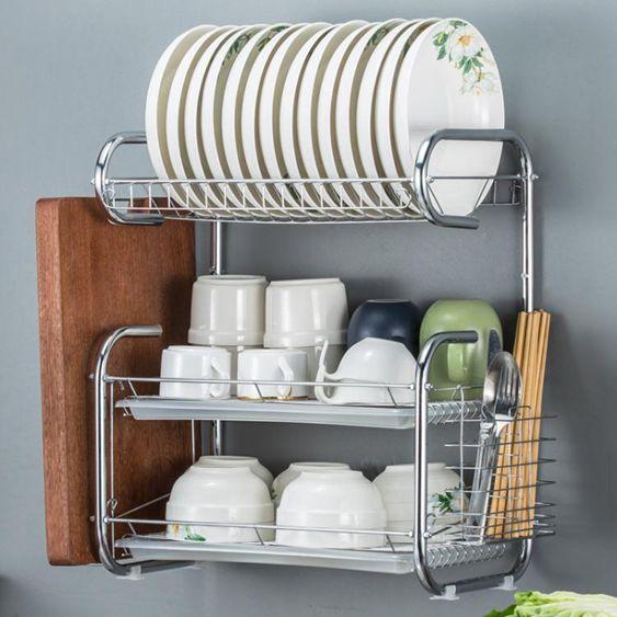 晾碗架瀝水架雙層廚房置物架放盤子架碗碟刀架碗櫃碗筷收納盒架