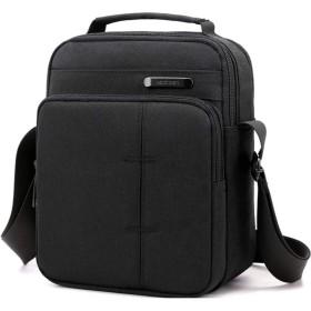 メッセンジャーバッグ 縦型 ミニ ショルダーバッグ メンズ 斜めがけ ビジネス カジュアル 黒